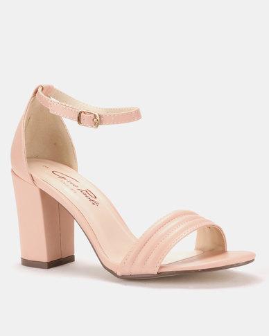 2ae5b2d0f8e Gino Paoli Block Heel Sandals Pink