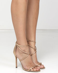 Sissy Boy Strappy Heeled Sandals Gold