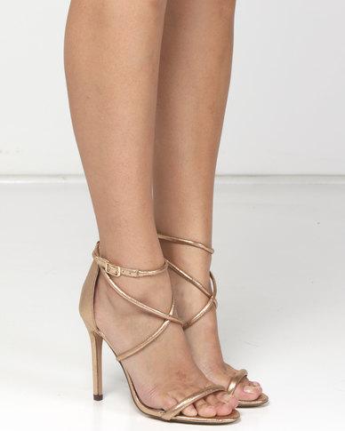 Sissy Boy Strappy Heeled Sandals Gold