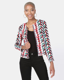 cath.nic By Queenspark Tassel Navaho Woven Jacket Multi