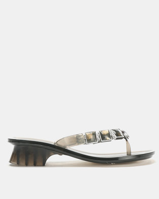 f6fea1120383 Queenspark Comfort Wedge Sandals Black. R 349. ×. Queenspark Heeled Jelly  With Square   Circle Trims Charcoal