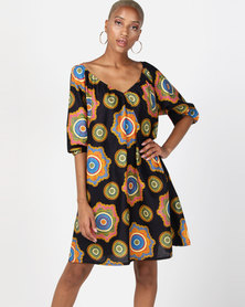 Kieke Raglan Dress Multi