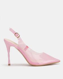 Miss Black Gaines Slingback Court Heels Pink