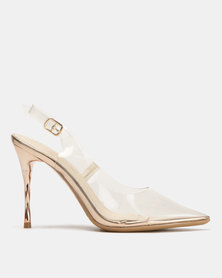 Miss Black Gaines Slingback Court Heels Clear