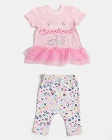 Creative Design Little Miss Sweetheart Set Pink