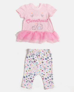 b1612401f1 Creative Design Little Miss Sweetheart Set Pink