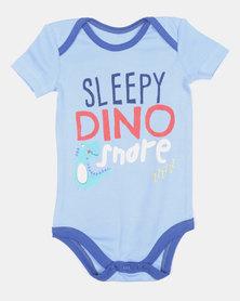 Creative Design Sleepy Dino Snore Vest Blue