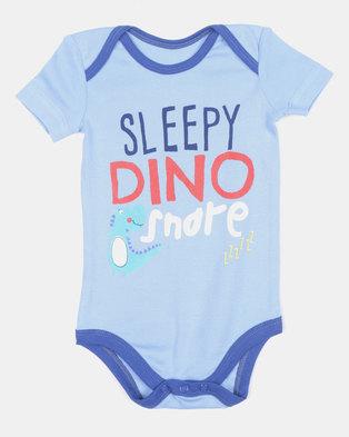 NEW. Creative Design Sleepy Dino Snore Vest Blue