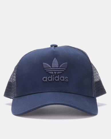 bbc24385a0d adidas Originals Aframe Trefoil Trucker Blue