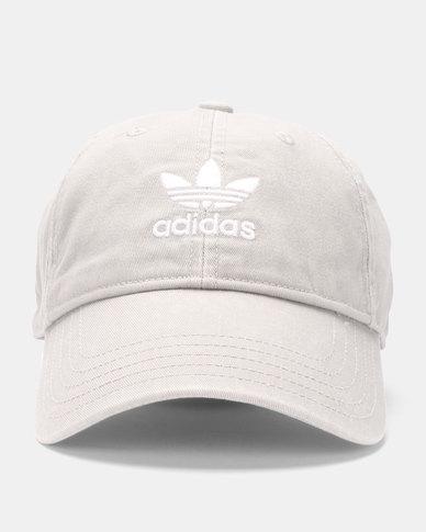 af704582786 adidas Originals Washed Adicolor Baseball Cap Grey