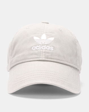 6efa715a920 adidas Originals Washed Adicolor Baseball Cap Grey
