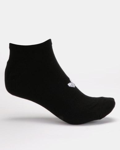 adidas Originals Trefoil Liner Socks 3PK Black