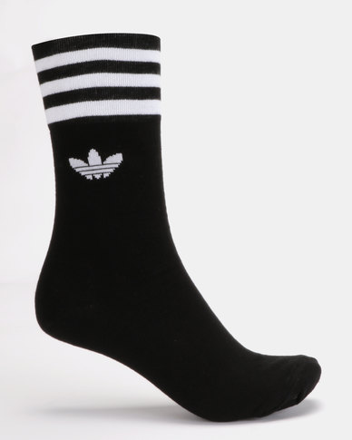 adidas Originals Unisex Solid Crew Originals 3PK