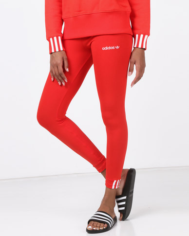 7f7be885b64 adidas Originals Coeeze Tights Red | Zando