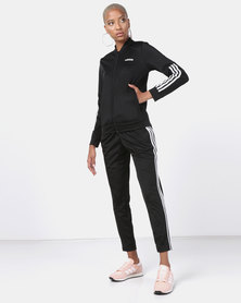 adidas Originals Back2Basics 3 Stripes Tracksuit Black