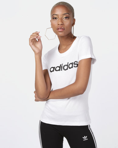 adidas Originals Essentials Linear Slim Tee White