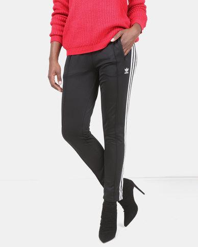 aae38ec119 adidas Originals Ladies SST Track Pants Black/White