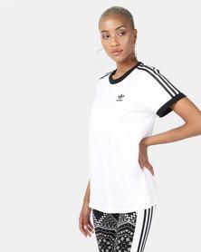 adidas Originals 3 Stripe Tee White