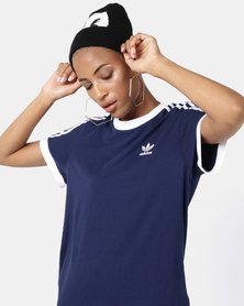 adidas Originals 3 Stripe Tee Blue