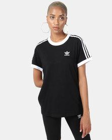 adidas Originals 3 Stripe Tee Black