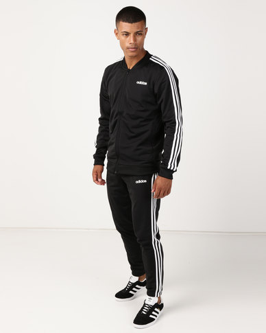 adidas Originals Back to Basic 3 Stripes Tracksuit Black