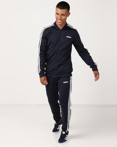 adidas Originals Back to Basic 3 Stripes Tracksuit Navy