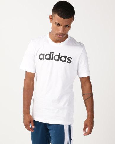 adidas Originals Essentials Linear T-Shirt White