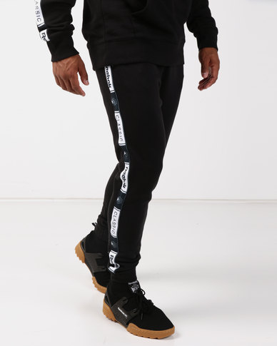 Reebok Classics French Terry Taped Pants Black