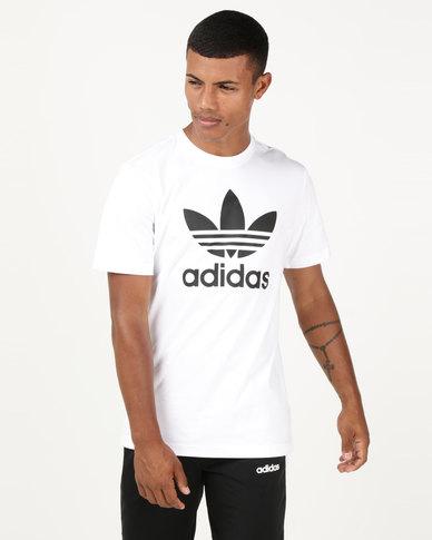 adidas Originals Mens Trefoil Tee White  bb41c1a3e