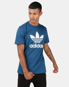 adidas Originals Mens Trefoil Tee Legend Marine