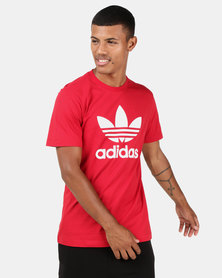 adidas Originals Mens Trefoil Tee Power Red