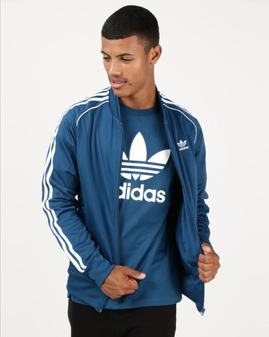 6215d7fff157 adidas Originals Mens SST Track Top Legend Marine