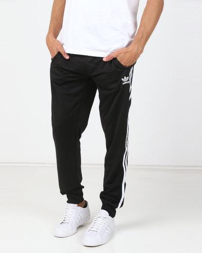 adidas Originals Mens Firebird Track Pants Black   Zando