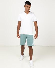 adidas Originals Mens 3 Stripe Shorts Blue