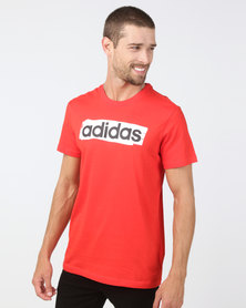 adidas Originals Mens E LIN Brush Tee Red