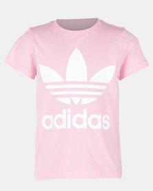 adidas Originals Boys Trefoil Tee Pink