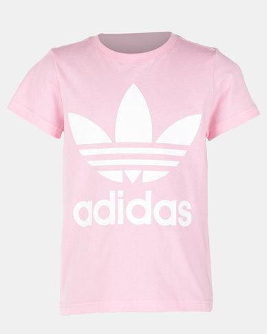 1ad2df255c0f93 adidas Originals Boys Trefoil Tee Pink