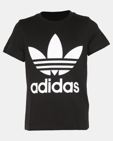 adidas Originals Boys Trefoil Tee Black