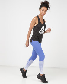 Reebok Performance RC Lux Tights Crushed Cobalt