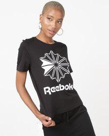 Reebok Classics Big Logo Graphic Tee Black