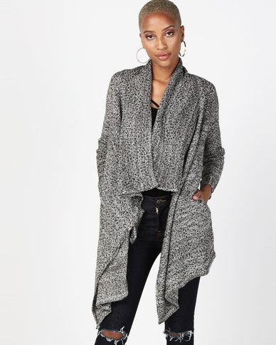 Bellfield Waterfall Cardigan In Mini Knot Yarn Multi