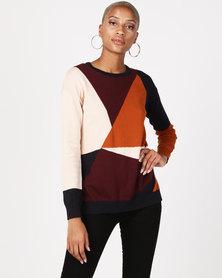 Bellfield Knit Colour Jumper Multi