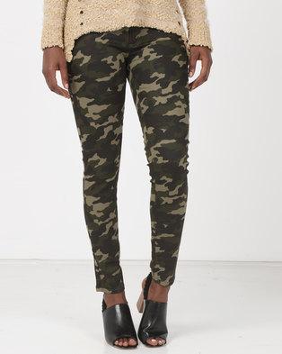 Utopia Skinny Leg Trousers Camo