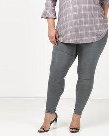 Brave Soul 5 Pocket Jeans Charcoal