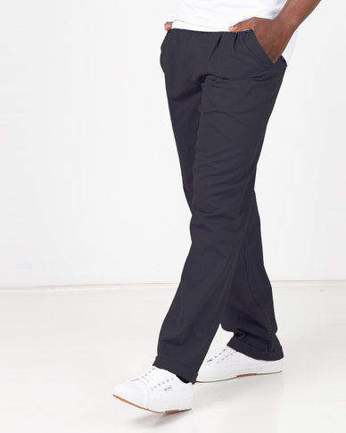 Utopia Cotton Twill Chino With Turnup Navy