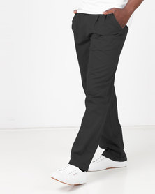 Utopia Cotton Twill Chino With Turnup Black