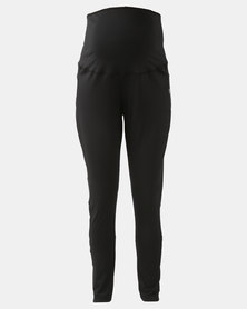 Cherry Melon Active Leggings Full Length Black