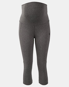 Cherry Melon Active Legging Capri Length Grey