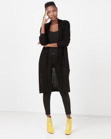 Utopia Longline Knitwear Cardigan Black