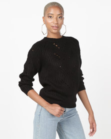 Utopia Interest Knitwear Jumper Black